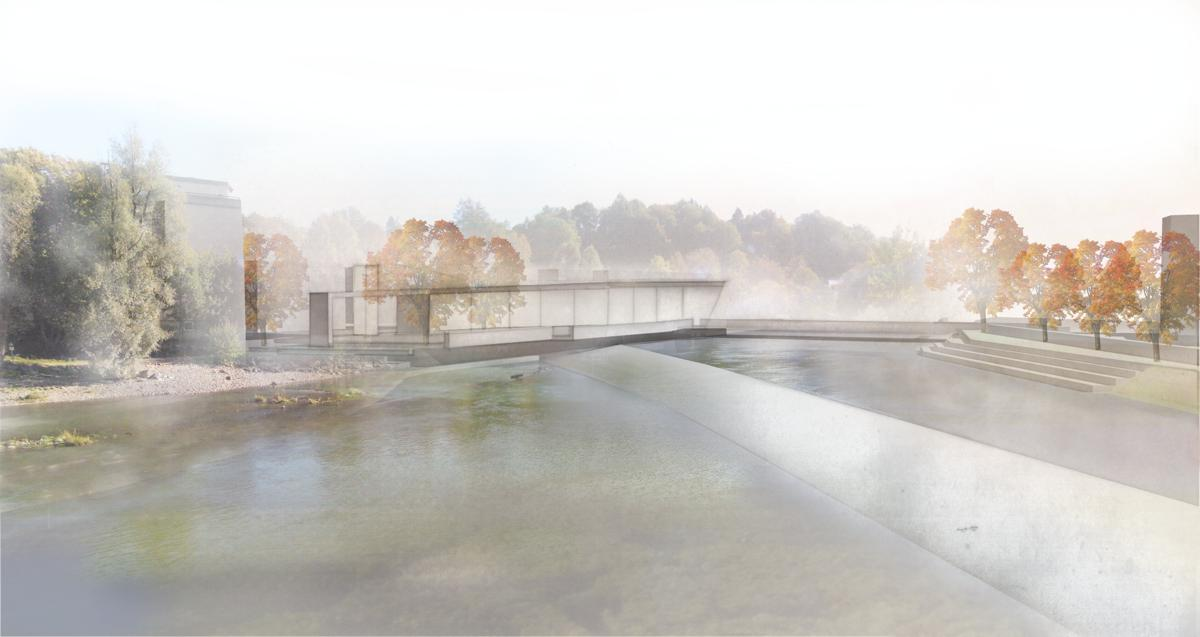Neues Gebäude-Ensemble an der St.-Mang-Brücke